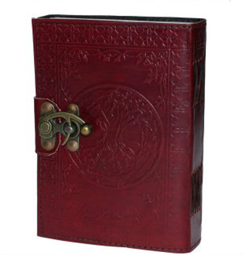 Leather bound journal, 13cm by 18cm, with blank pages and lock