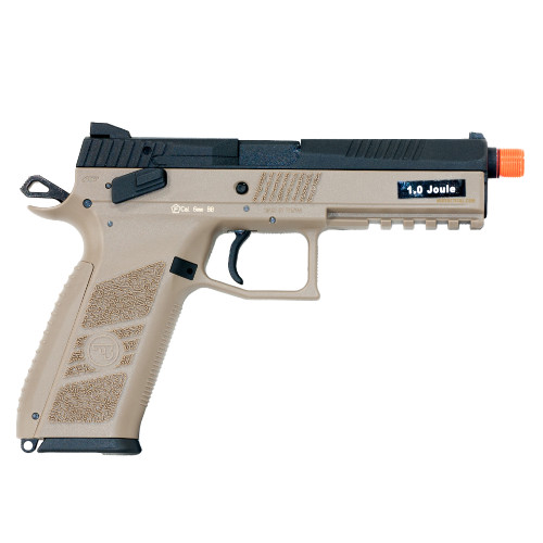 CZ P-09 PISTOL AIRSOFT GBB THREADED FDE