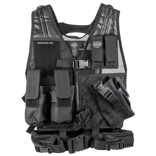 CROSSDRAW TACTICAL VEST YOUTH SIZE BLACK