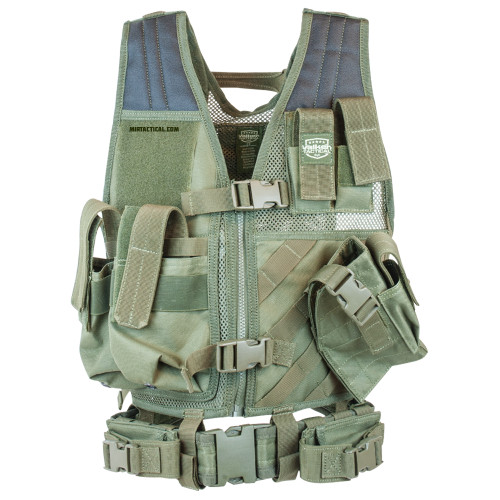 CROSSDRAW TACTICAL VEST YOUTH SIZE OLIVE