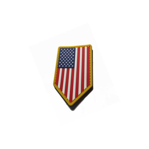 US FLAG VERTICAL SHIELD PVC COLOR PATCH