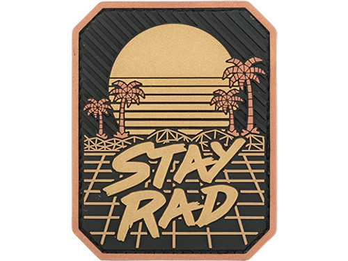 STAY RAD PVC BLACK GOLD PATCH