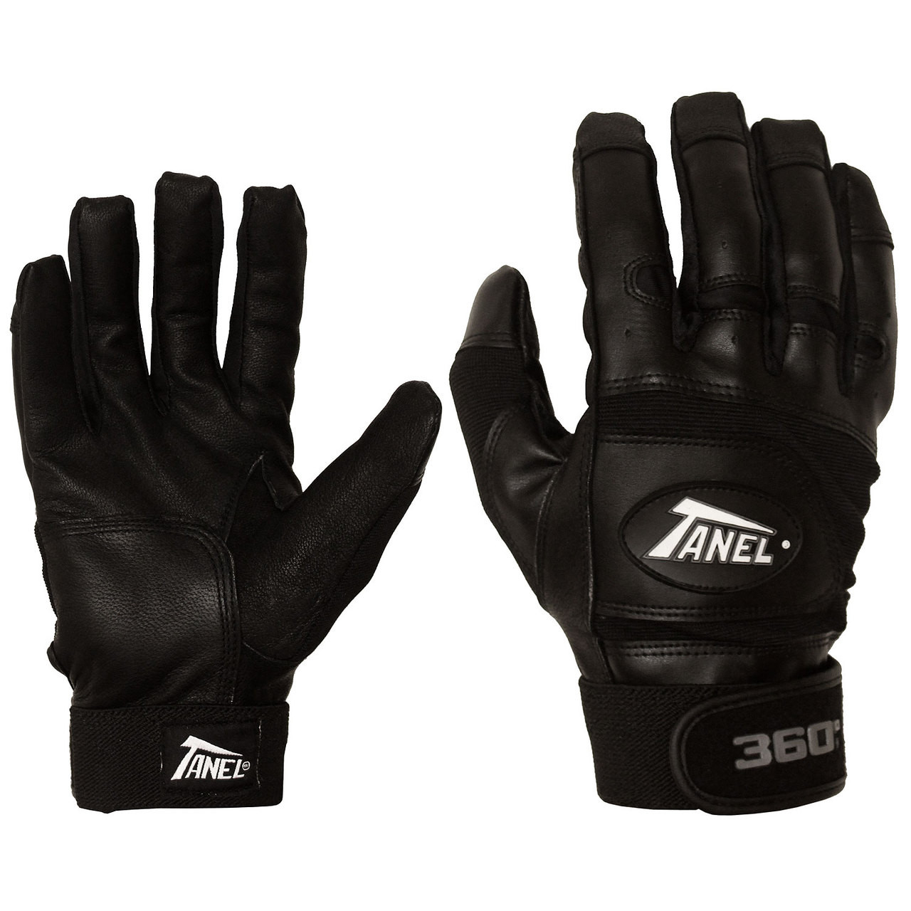 Black leather batting gloves - Smooth Grain Batting Gloves