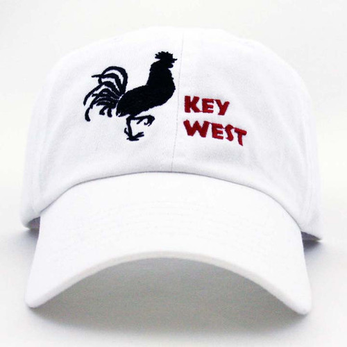 GL Key West Rooster Cap White BLR Red L