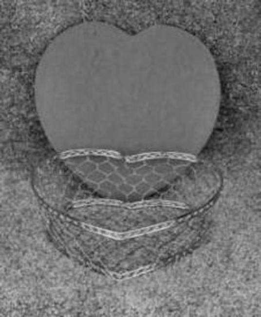 Basket - Heart Basket, Small Silver with Lid (232002)