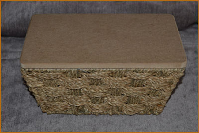 Basket - Sea Grass Basket with MDF lid (840210)