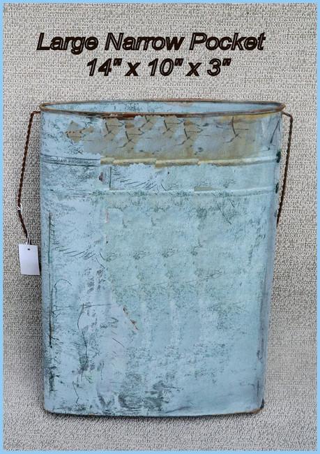 Large Narrow Distressed Metal Wall Pocket Lydia Steeves - Hoot 2017