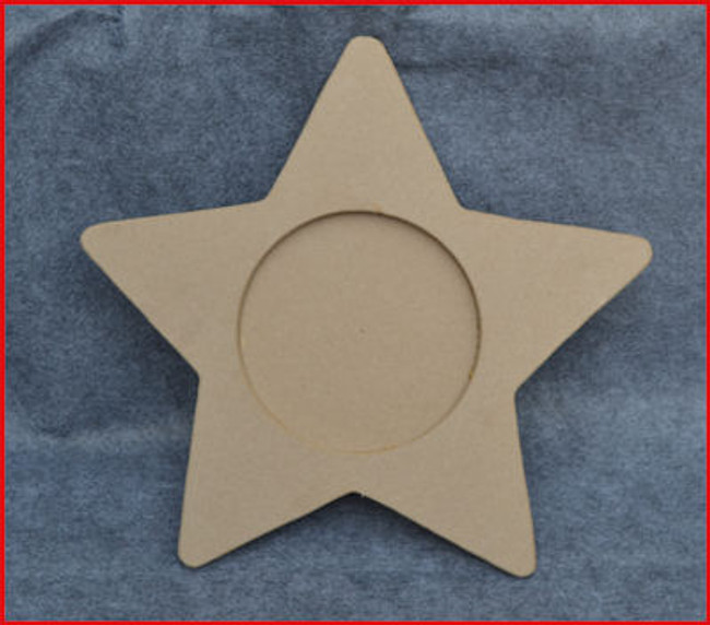 Wood -  Star Charger, MDF  (897765) OUT OF STOCK