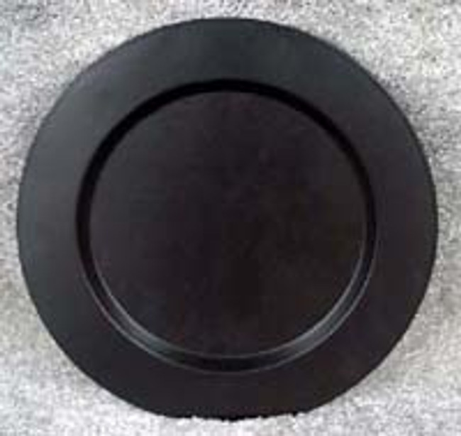 Plain Round Black Metal Plate -5 Sizes
