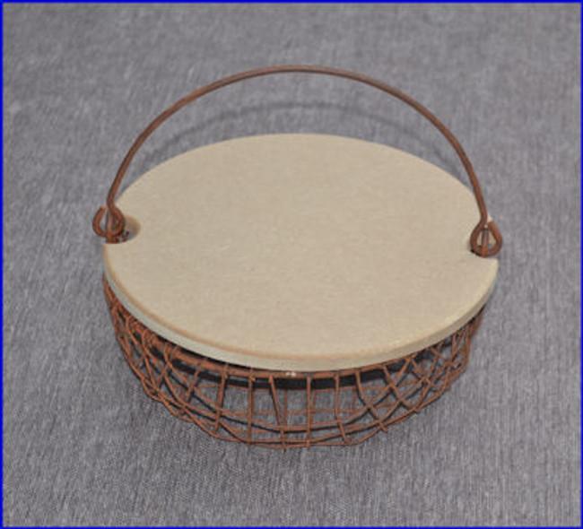 Basket - Round Wire Mesh Basket W/Lid (1205899 , 15T074)