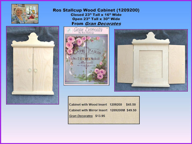 """Ros Stallcup Wood Cabinet (1209200) Closed 23"""" Tall x 16"""" Wide Open 23"""" Tall x 30"""" WideFrom Gran Decorates"""