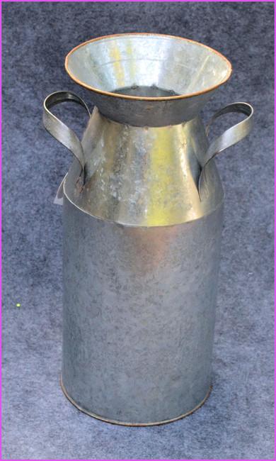 Silver Metal Milk Can