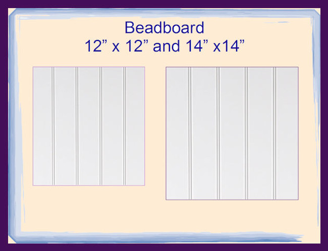 "Wood - Beadboard Squares 12"" x 12"" or 14""x 14"" (BB20170621XX)"