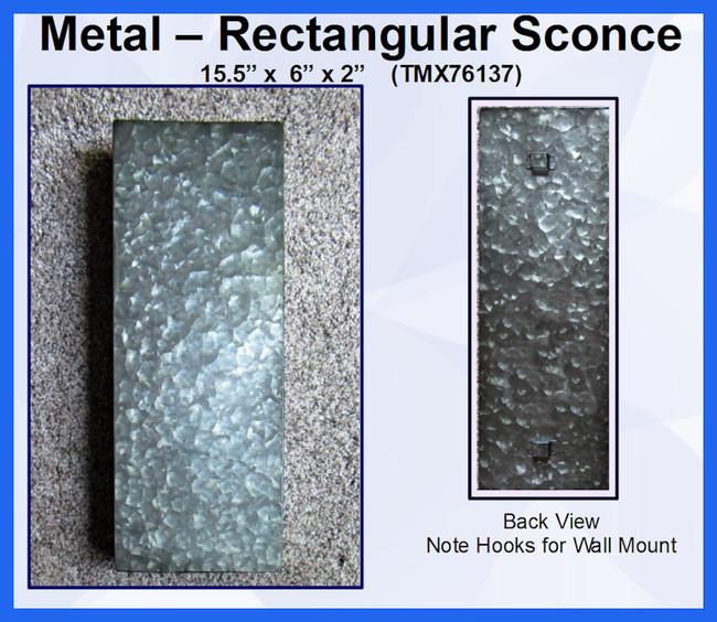 """Metal - Sconce, Rectangular 16"""" x 6"""" x 2"""" (TMX76137)"""