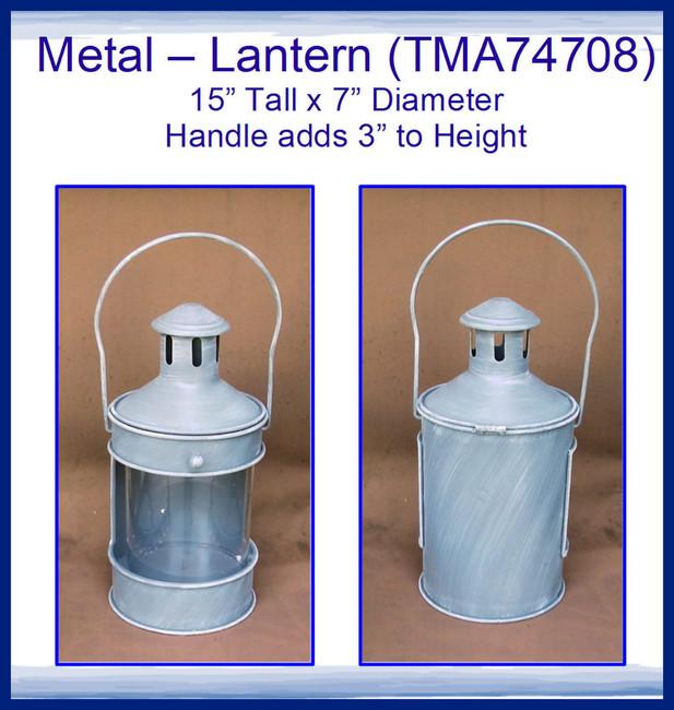 "Metal - Lantern 15"" x 7""  (TMA74708)"