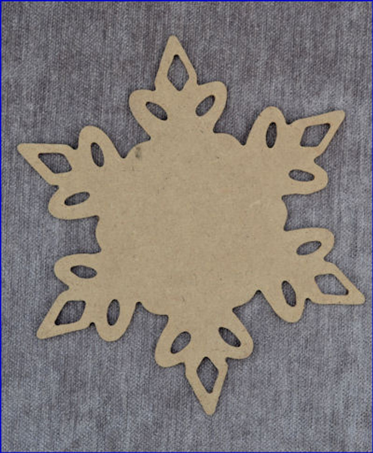 """Snowflake Charger # 3 - Available in 3 Sizes 16"""", 13"""",  8"""""""