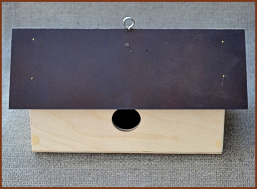 Long Wood Birdhouse with Metal Roof 658723