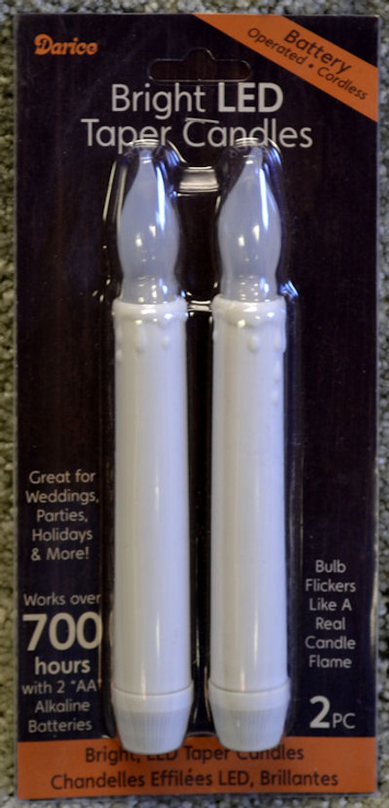 "Set 1 - Two 6"" Candles"