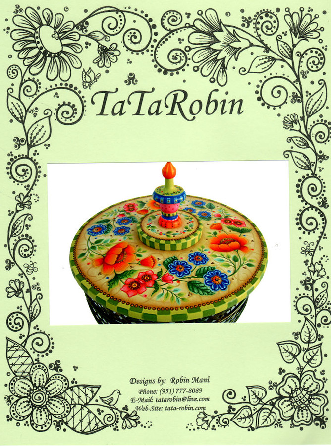 """New Robin Mani Pattern Packet - """"Poppies and Posies"""""""