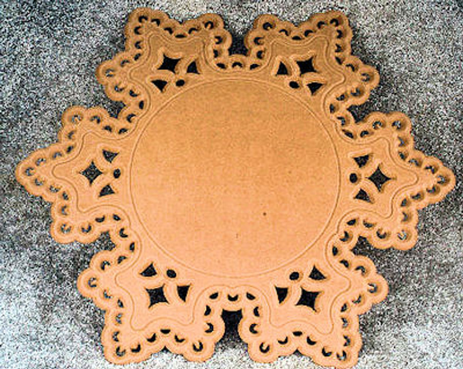 """Large Lace Snowflake Placemat - 21"""""""