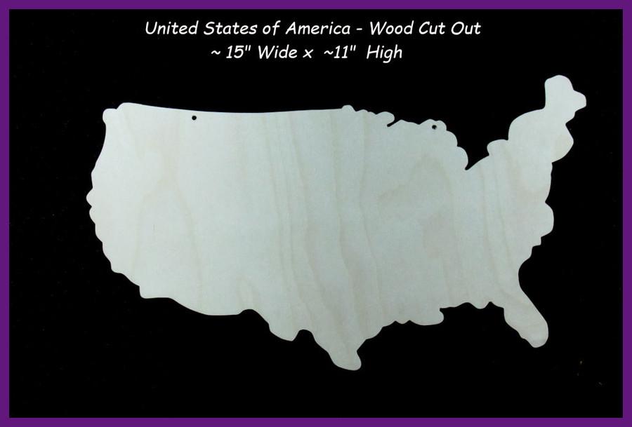 Wood - Map of the United States (1923USMAP)