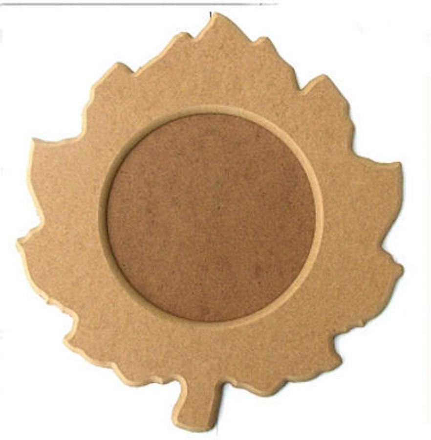 Plate - Wood Leaf Plate (101256)