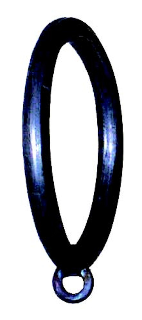 Iron Curtain Ring 1 1/2 inch w/1/4 inch Tab