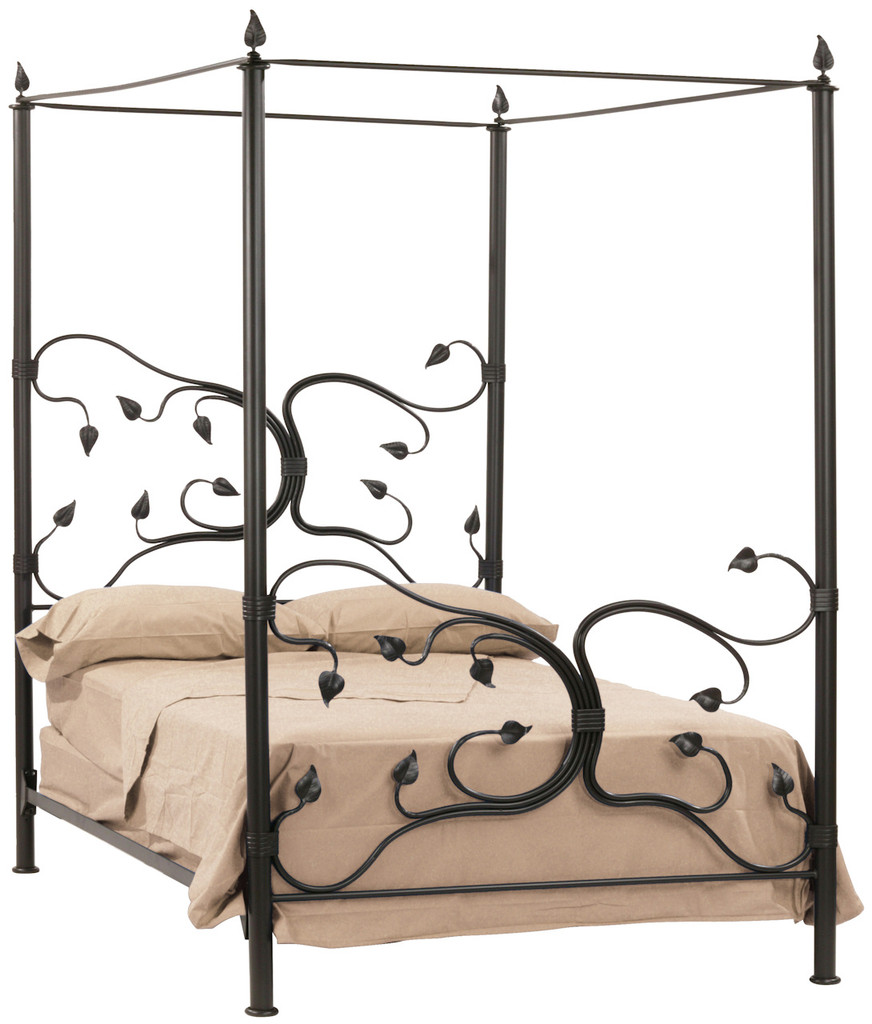 Eden Isle Iron Canopy Full Bed