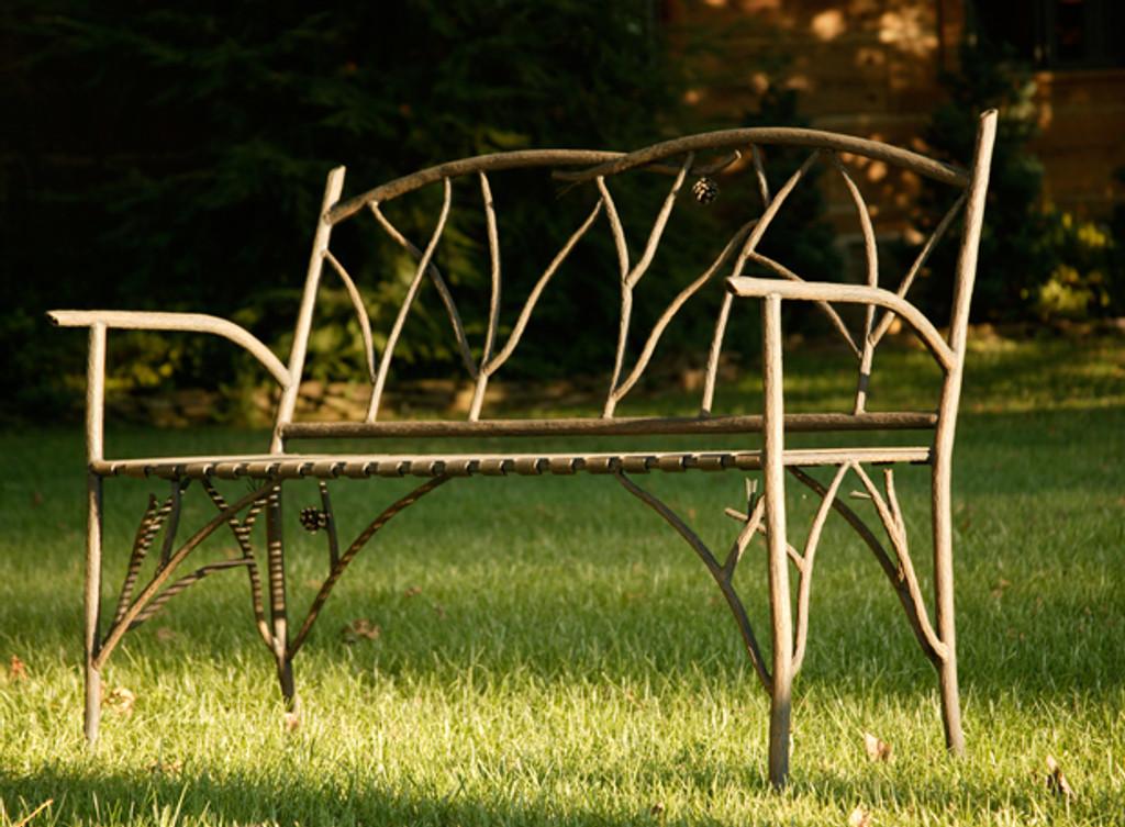 Iron Pine Bench 52 inch