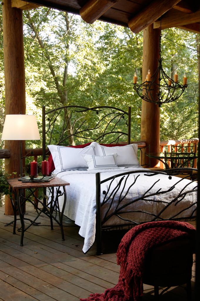 Pine King Iron Bed