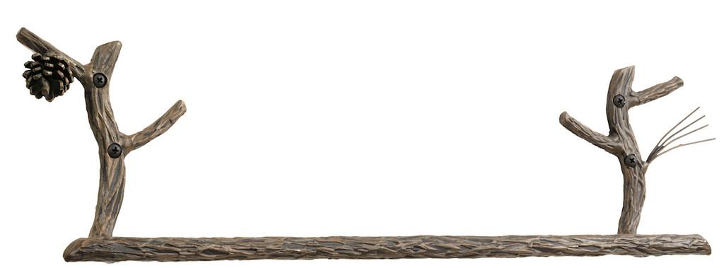 Pine Iron Towel Bar 24 inch