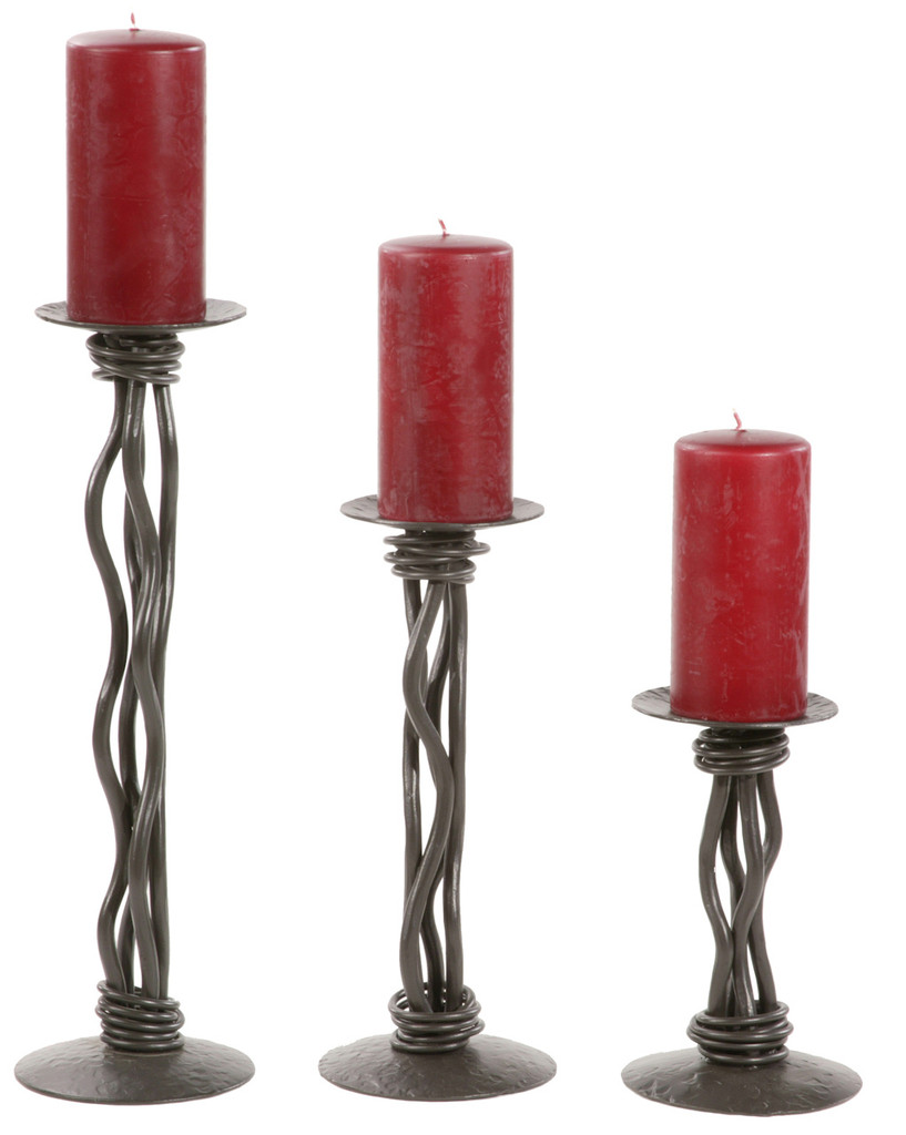 Rush Iron Renaissance Single Candle holder 12 inch