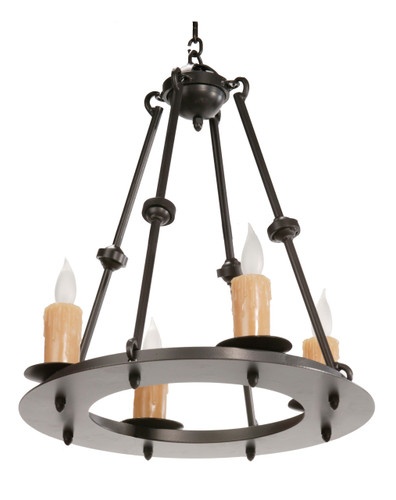 Nova 4 Light Iron Chandelier