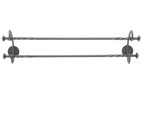 """French Country Double Iron Towel Bar  16"""""""