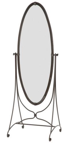 Queensbury Standing Oval Iron Mirror