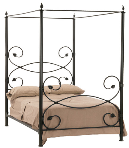 Leaf Canopy Iron Twin Bed