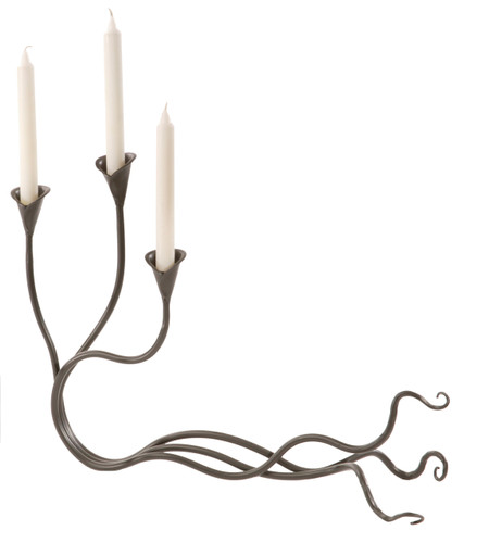 Windswept Iron Candle holder Triple