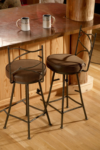 Pine Iron Bar Stool