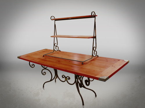 Waterbury Folding Guest Table with Topper Option