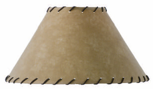 Parchment Floor Lamp Shade with Leather Trim 22 inch