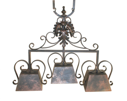 Tuscany Three Arm Iron Chandelier