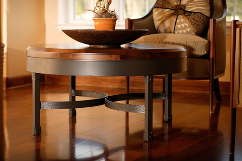 36 Inch Coffee Table Wrought Iron And Wood Coffee Table