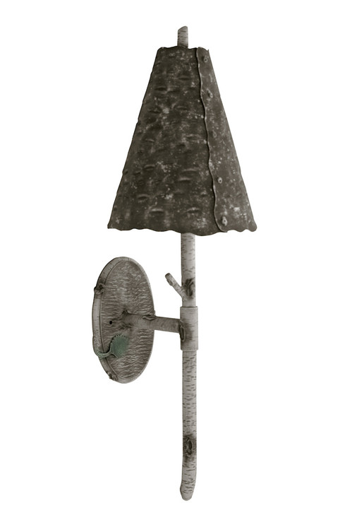 Whisper Creek Hand Forged Iron Wall Sconce With Shade