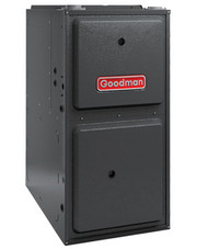 Goodman GMSS960803BN Gas Furnace 80,000 BTU Furnace, 96% Efficient, Single-Stage Burner, 1,200 CFM 4-Speed PSC Blower, Upflow / Horizontal Flow