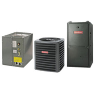 Goodman 80% 80,000 BTU Gas Furnace and 3 ton 13 SEER AC System