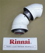 Rinnai 224050 2-Pack of 45 Degree Vent Pipe Elbows