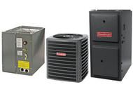 Goodman 96% 80,000 BTU Gas Furnace and 2 ton 13 SEER AC System