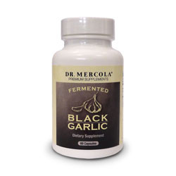 Thumbnail picture of a bottle of Dr. Mercola Fermented Black Garlic capsules.