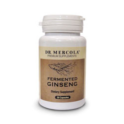 Thumbnail picture of Dr. Mercola Fermented Ginseng capsules.