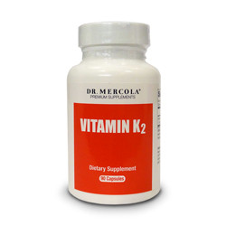 Thumbnail picture of a bottle of Dr. Mercola Vitamin K2 capsules.